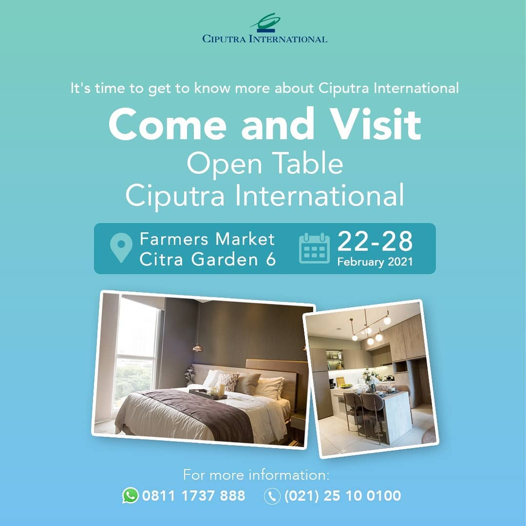 Come and Visit Open Table Ciputra International
