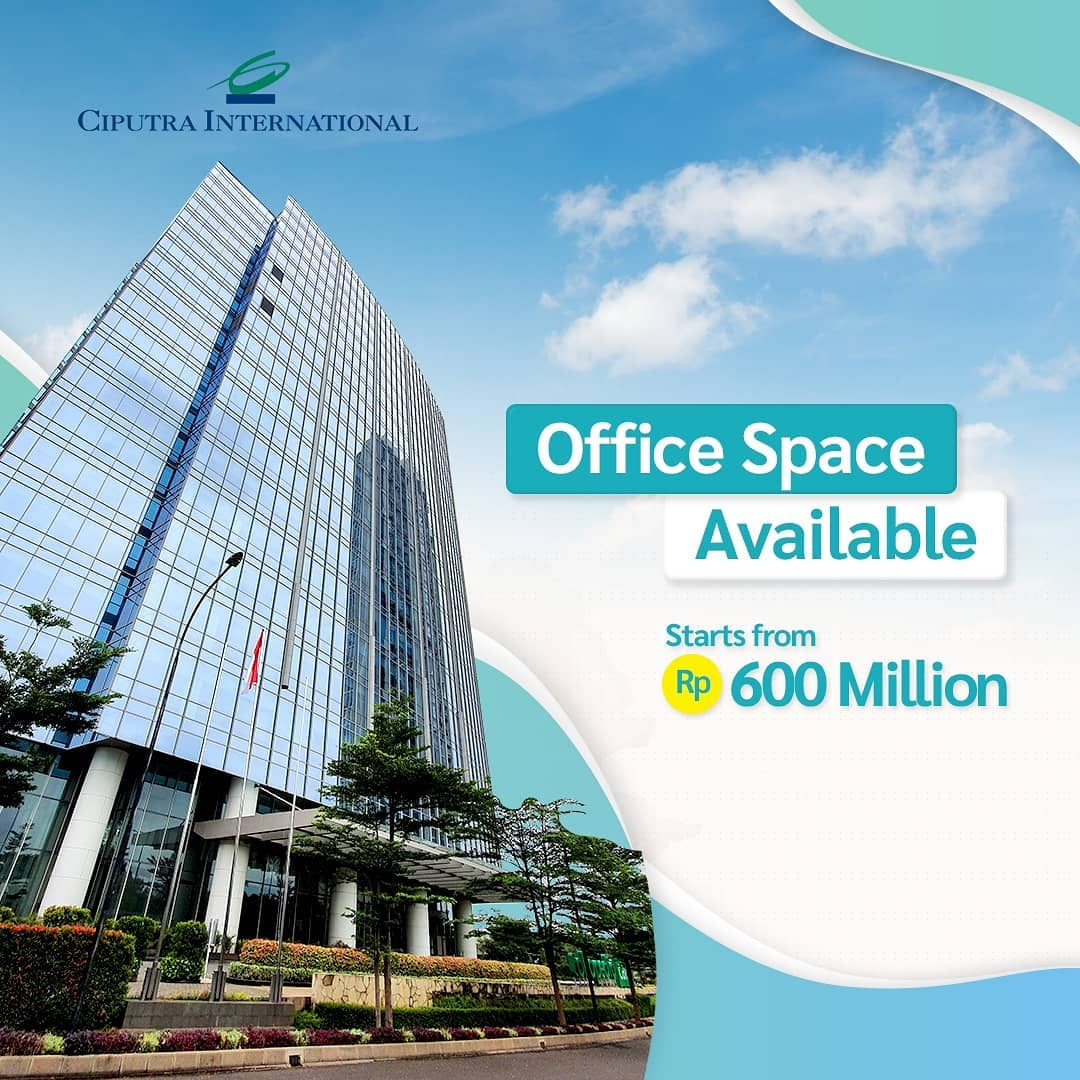 Office Space Available Starts from Rp 600 Million